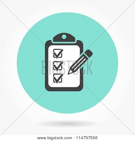 Clipboard - Vector Icon.