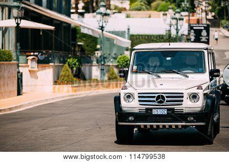 Mercedes-Benz G-Class Gelandewagen on street of Monte Carlo, Mon