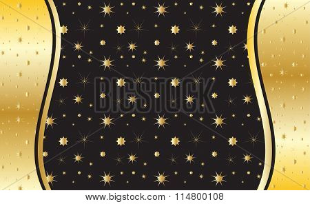Gold Background Vector.