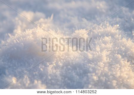 Sunlit snow surface