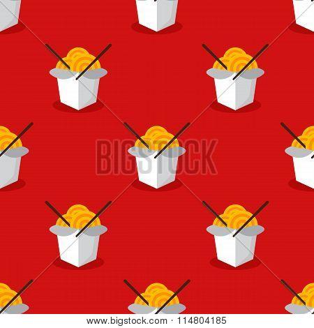 Vector bright wok box chineese seamless pattern