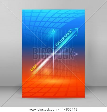 Insurance Cover Background Booklet Format A4 Page
