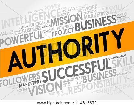 Authority Word Cloud