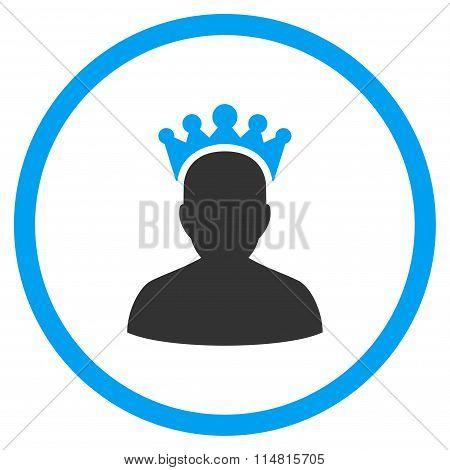 King Flat Icon