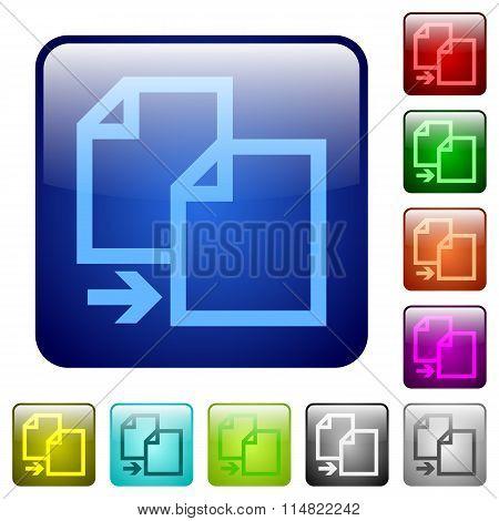 Color Copy Square Buttons