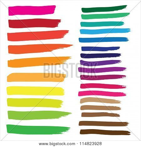 Marker Drawing Series In Vector Format. Color Can Be Changed By One Click
