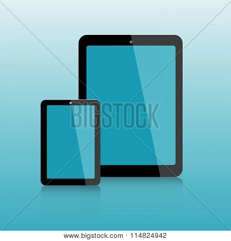 Computer Mockup Tablet And Smartphone