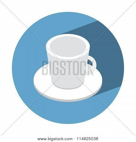 Coffe Cup Empty Isometric Icon