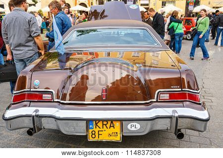 Krakow, Poland - May 15, 2015: Lincoln Continental On The Rally Of Vintage Cars In Krakow, Poland