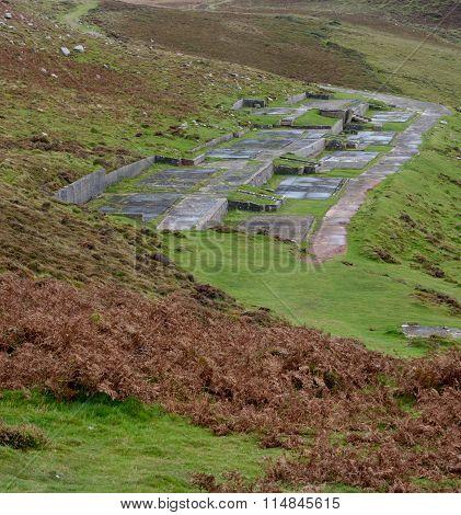 Demolished WW2 radar station near Rhossili in WalesUK poster