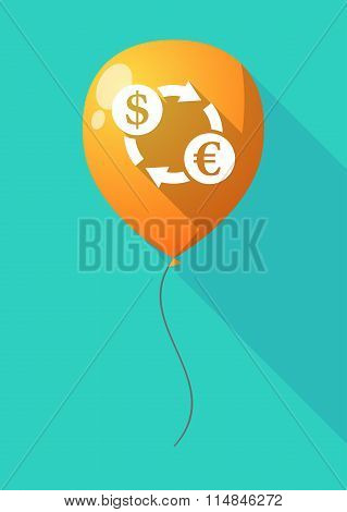 Long Shadow Balloon With A Dollar Euro Exchange Sign