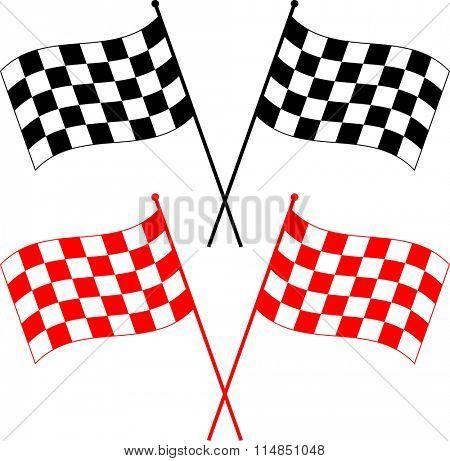 Race Flag Various Designs, Vinyl Ready Vector Illustration