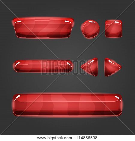 Set Of Vector Button For Game Design - 9