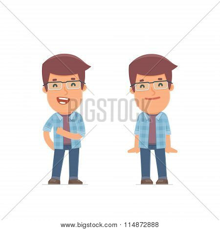Funny Character Freelancer In Confident And Shy Poses