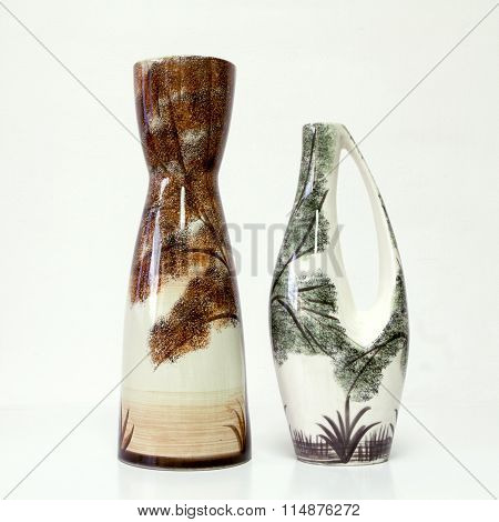 Vintage Ceramic Pair In Retro Style