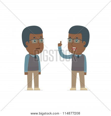 Intelligent Character African American Teacher Learns And Gives Advice To His Friend