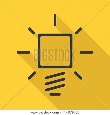 Lightbulb Icon, Long Shadow