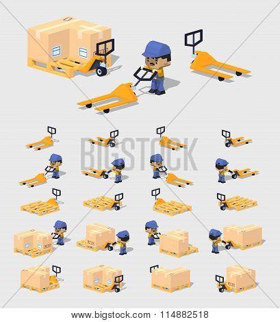 Cube World. Manual pallet truck
