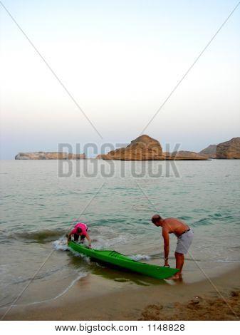 Beach Canoe People