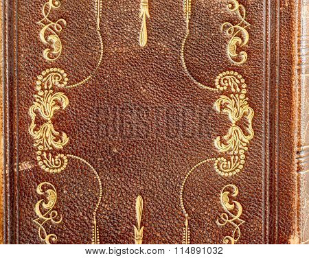 Gold-Stamped Detail on Leather Hymnal