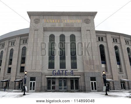 Yankee Stadium In Winter