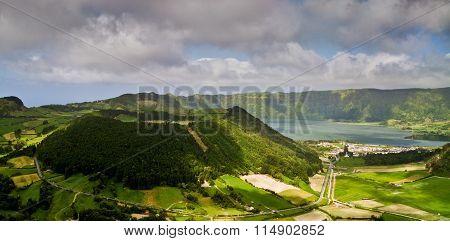 Azores, Volcanic Lake Sete Cidades In Sao Miguel Island