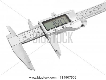 Dgital Electronic Vernier Caliper, isolated on white background