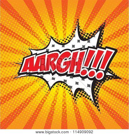ARGH! wording in comic speech bubble