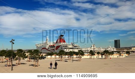 France, Marseille -november 19, 2015: Port Of Marseille . Marseille Is France's Largest City On The