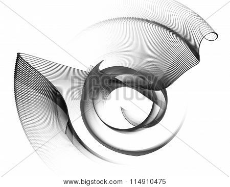 Abstract Textured Image Graphic Element For Design , Stroke , Rotating On A White Background