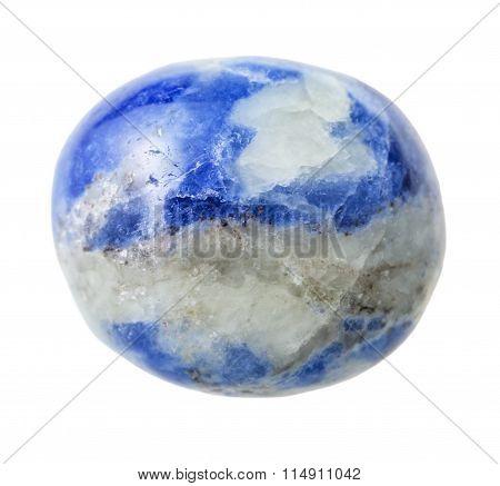 Sodalite Gemstone Isolated On White