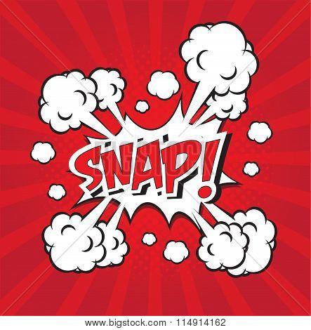 SNAP! wording in comic speech bubble