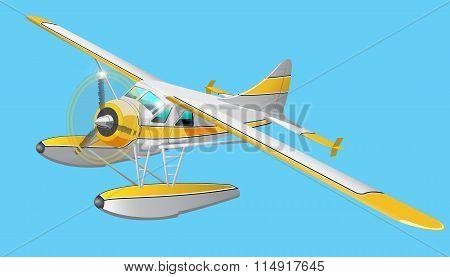 Retro seaplane illustration