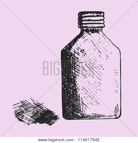 jar of the medical alcohol