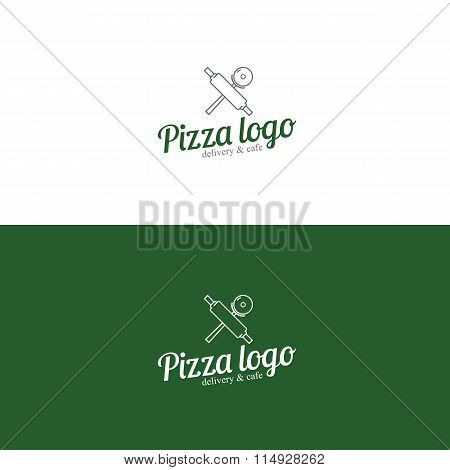 Pizza logo. Pizza slice.