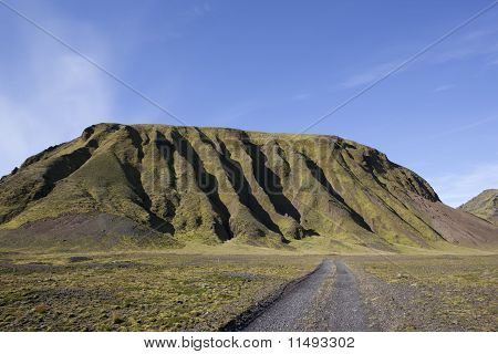 Mountain in a golden light at Iceland