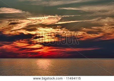 Dramatic Evening Sunset