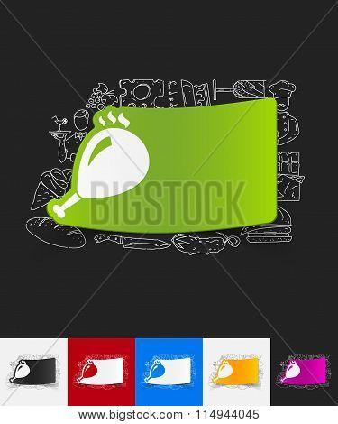 gammon paper sticker with hand drawn elements