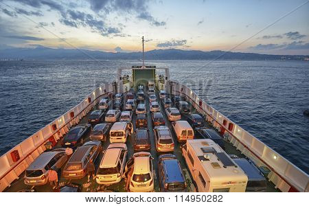 Full Ferry Crossing The Channel