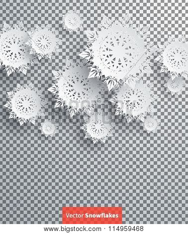 Snowflakes Background. Happy New Year