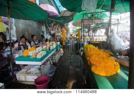 Flower Market in Thailand
