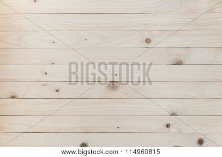 Wood Background, Pine Wood Background In Horizontal Plane.