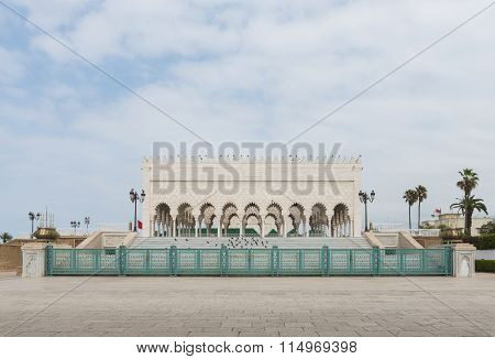 The Exterior Of Mausoleum Of Mohammed V In Rabat