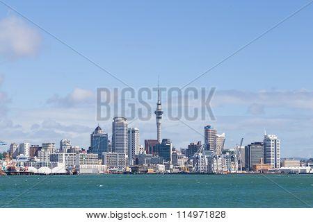 Auckland skyline seen from Devonport