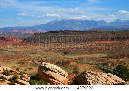 Red Desert With La Sal Mountains