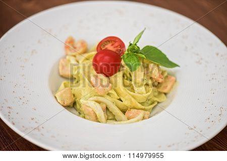 fettuccini with seafood
