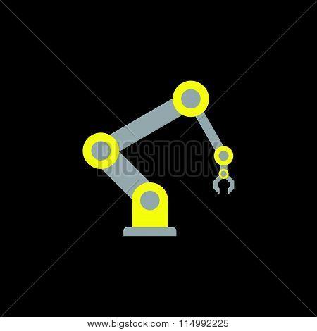 yellow-gray robot arm icon