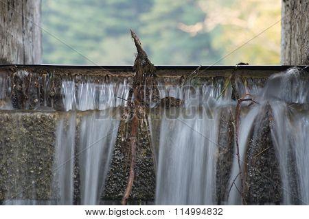 Close Up Of Dam Spillway
