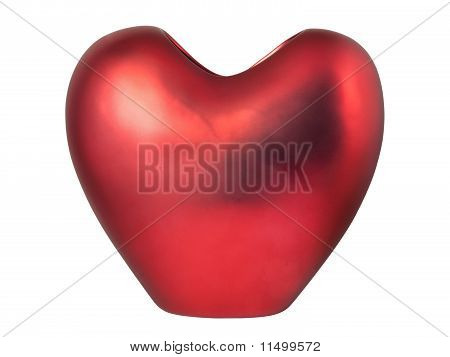 Red Heart-shaped Vase
