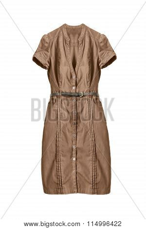Brown Dress Isolated